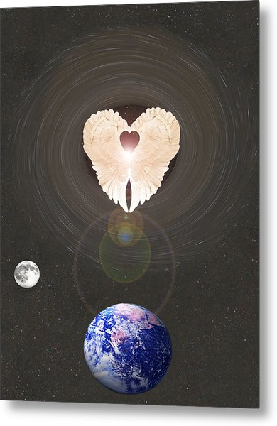 Metal Print featuring the photograph Universal Angel by Eric Kempson