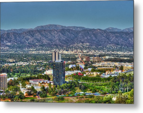 Universal City Warner Bros Studios Clear Day Metal Print
