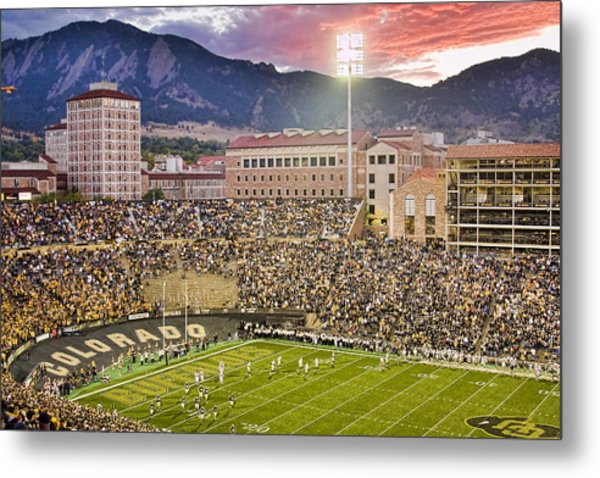 University Of Colorado Boulder Go Buffs Metal Print
