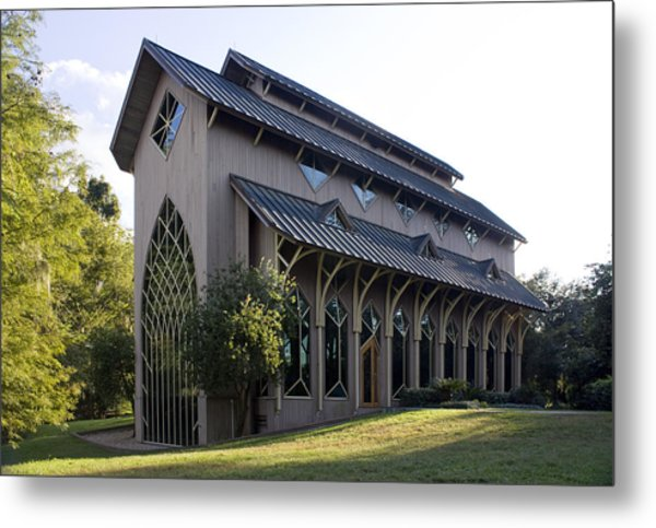 University Of Florida Chapel On Lake Alice Metal Print