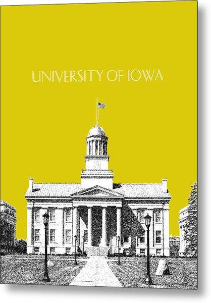 University Of Iowa - Mustard Yellow Metal Print