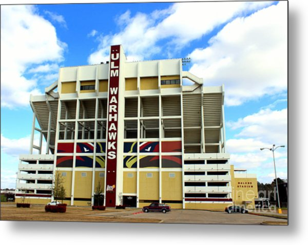 University Of Louisiana At Monroe Malone Stadium Metal Print