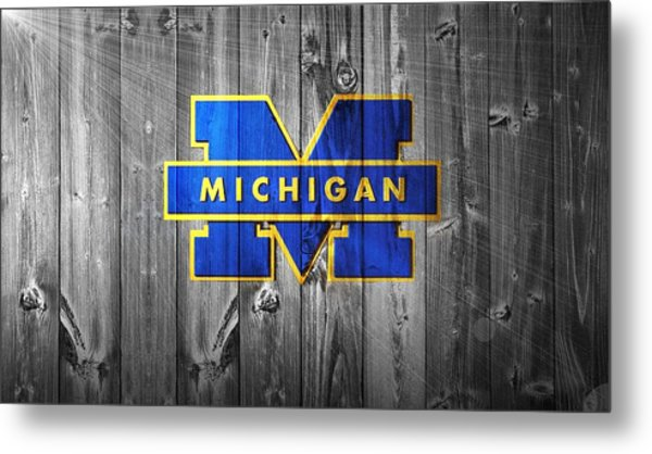 University Of Michigan Metal Print
