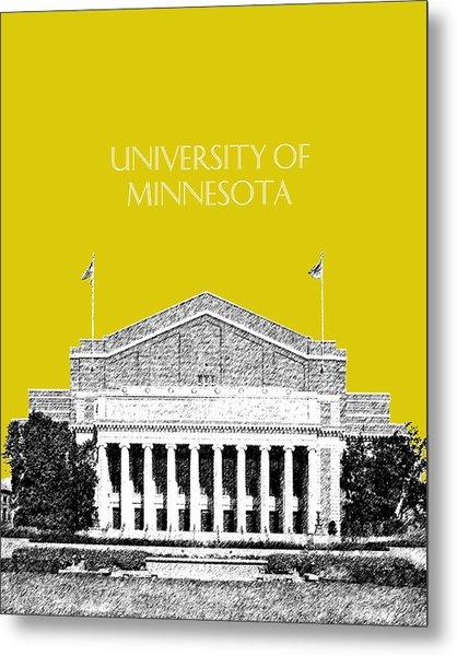 University Of Minnesota 2 - Northrop Auditorium - Mustard Yellow Metal Print