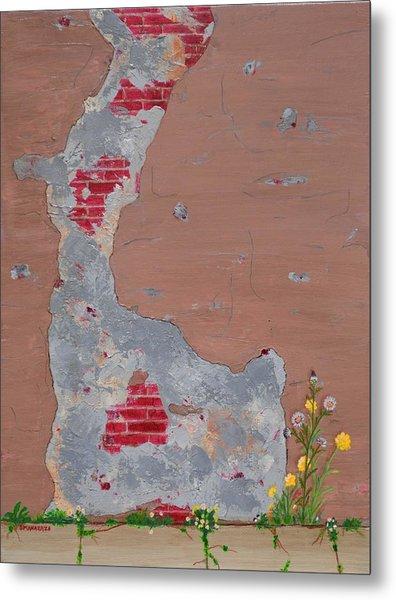 Unmasking The Red Brick Wall Metal Print