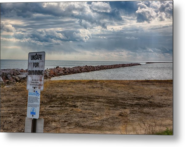 Unsafe For Swimming Metal Print by Ricky L Jones