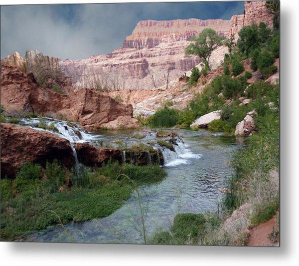 Unspoiled Waterfall Metal Print