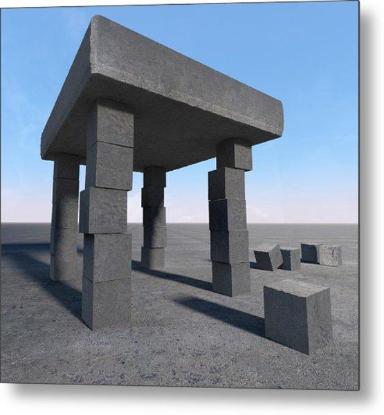 Unstable Structure Metal Print