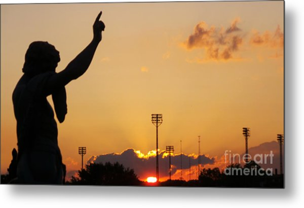 Cemetery Sunset Metal Print