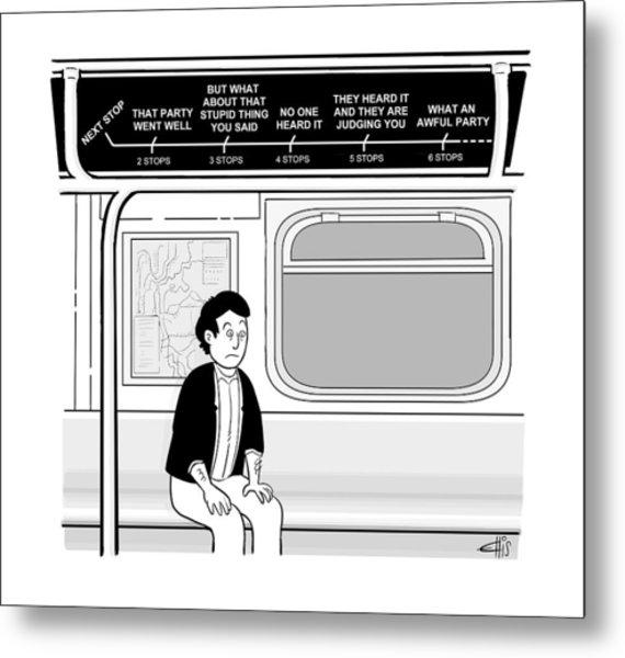 New Yorker December 12th, 2016 Metal Print