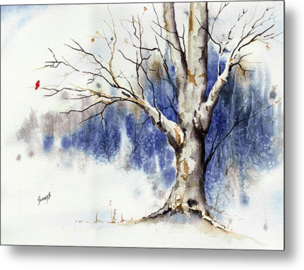 Untitled Winter Tree Metal Print