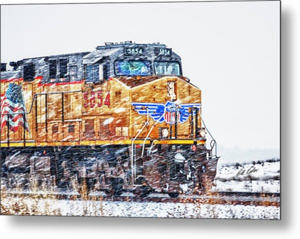 Up 5854 In The Snow Metal Print