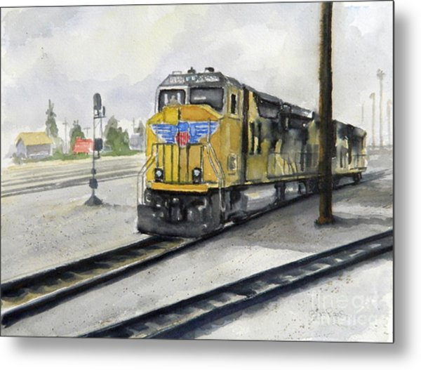 U.p. Locomotive Metal Print