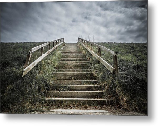 Uphill Battle Metal Print by Charlie Tash