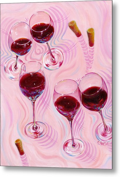 Metal Print featuring the painting Uplifting Spirits  by Sandi Whetzel