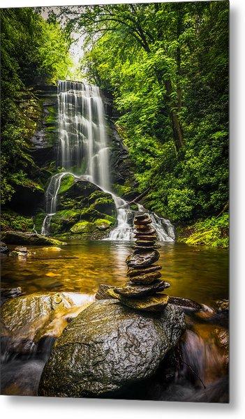 Upper Catabwa Falls Metal Print