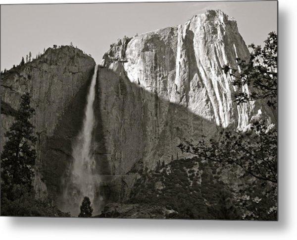 Upper Yosemite Falls Composition In Triangles Metal Print