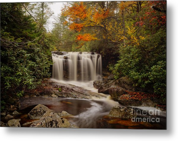 Upper Falls Waterfall On Big Run River  Metal Print
