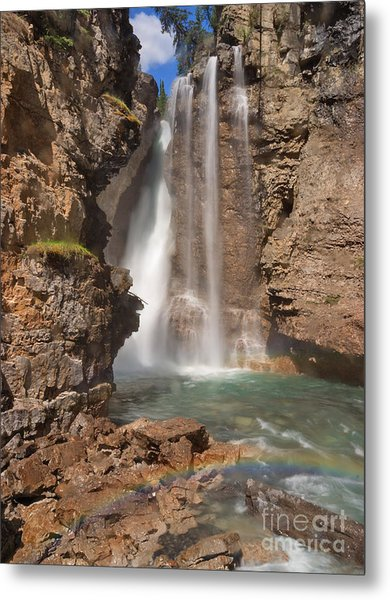 Upper Waterfall At Johnston Canyon Metal Print