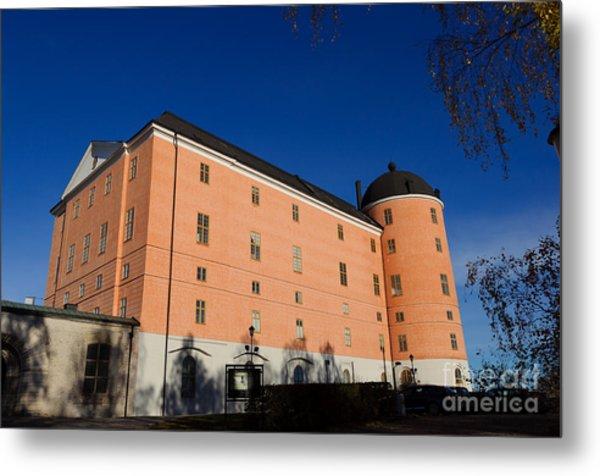 Uppsala Castle - Sweden - With Deep Blue Sky Metal Print