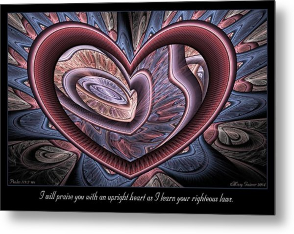 Upright Heart Metal Print