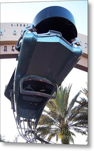 Upside Down Car Metal Print