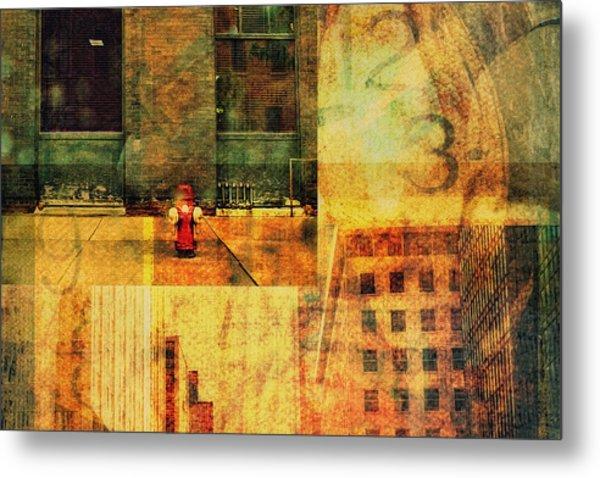 Urban Collage Metal Print