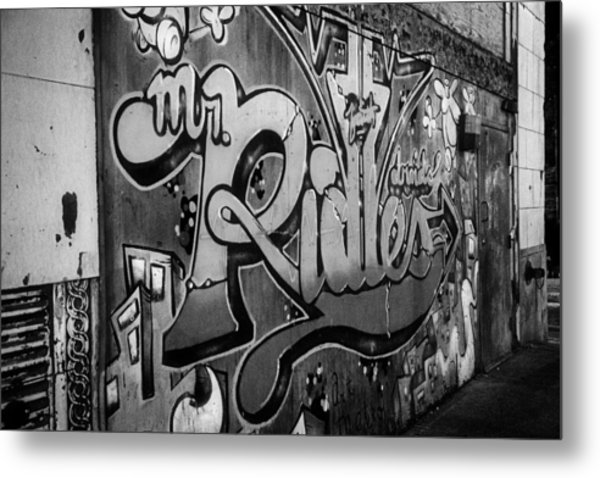 Urban Decay In Black And White Metal Print by John Hoey
