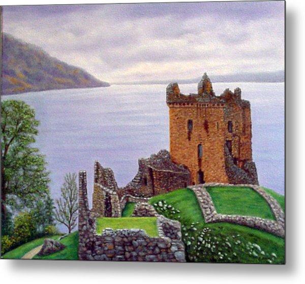 Urquhart Castle Loch Ness Scotland Metal Print