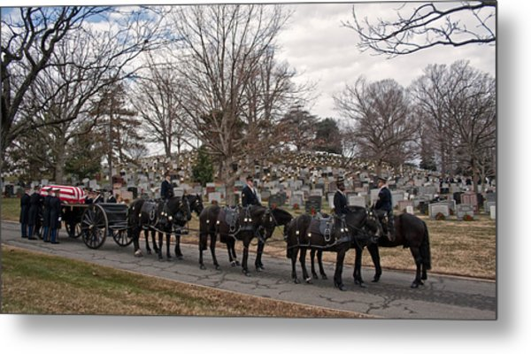 Us Army Caisson At Arlington National Cemetery Metal Print