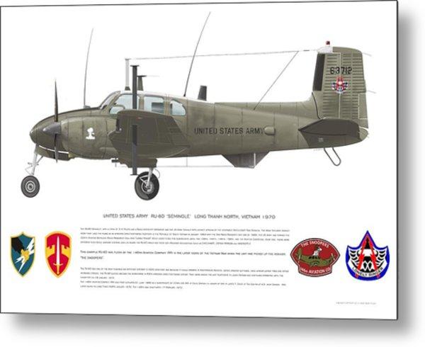 U.s. Army Ru-8d 146th Metal Print