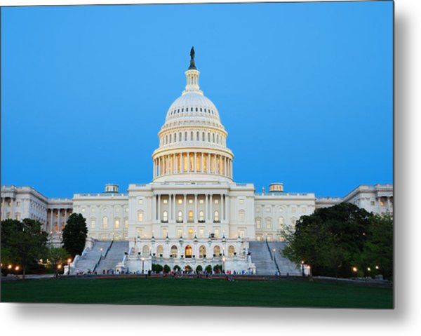 Us Capitol In Washington Dc. Metal Print