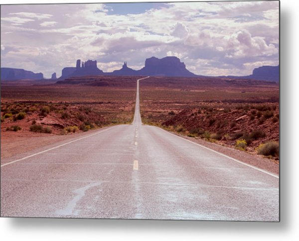 Us Highway 163 Metal Print