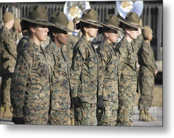 U.s. Marine Corps Female Drill Metal Print