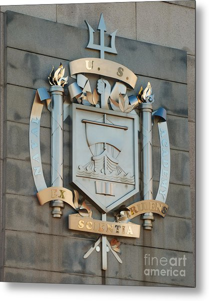Us Naval Academy Insignia Metal Print