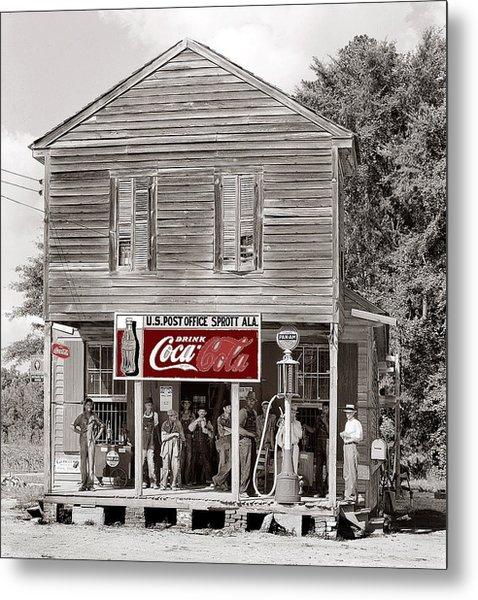 U.s. Post Office General Store Coca-cola Signs Sprott  Alabama Walker Evans Photo C.1935-2014. Metal Print