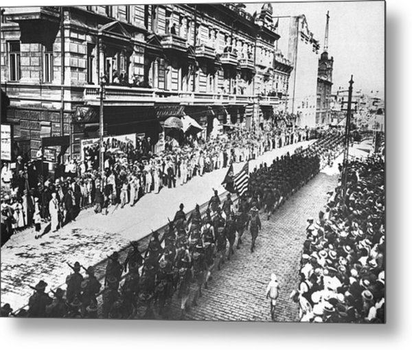 Us Troops In Vladivostok Metal Print