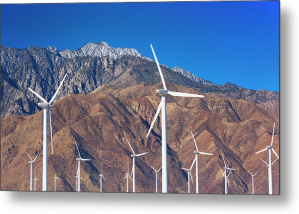 Usa, California, Palm Springs, Wind Farm Metal Print by Tetra Images