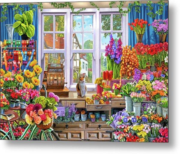 Usa Flower Shoppe Metal Print
