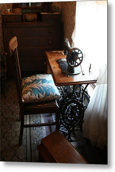Usa Remembered  Preserving The Past Series Photography By Michele Bruce - Carter - Sewing Machine Metal Print