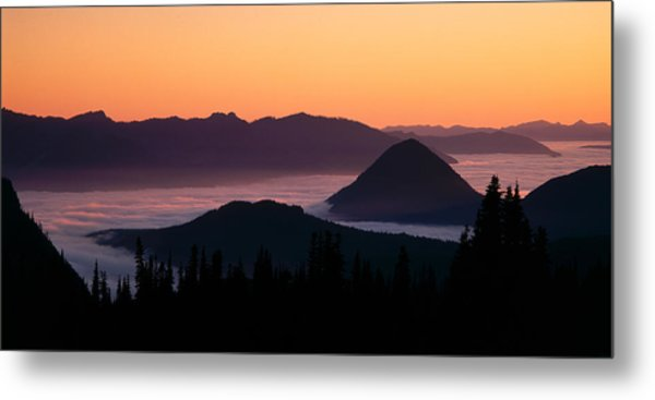 Usa, Washington, Mount Rainier National Metal Print