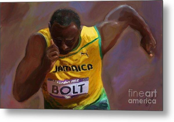 Usain Bolt 2012 Olympics Metal Print