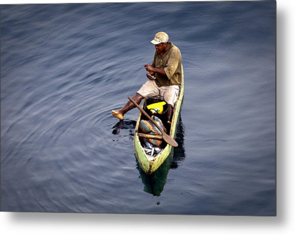 Using A Toe As A Fishing Pole. Metal Print