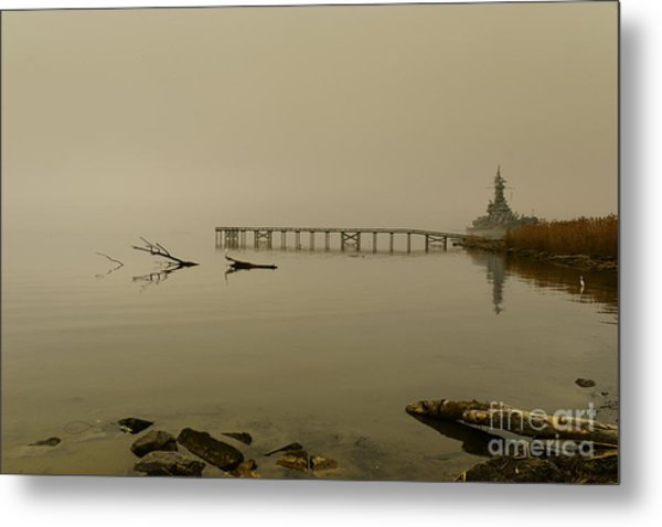 Uss Alabama Metal Print by Russell Christie