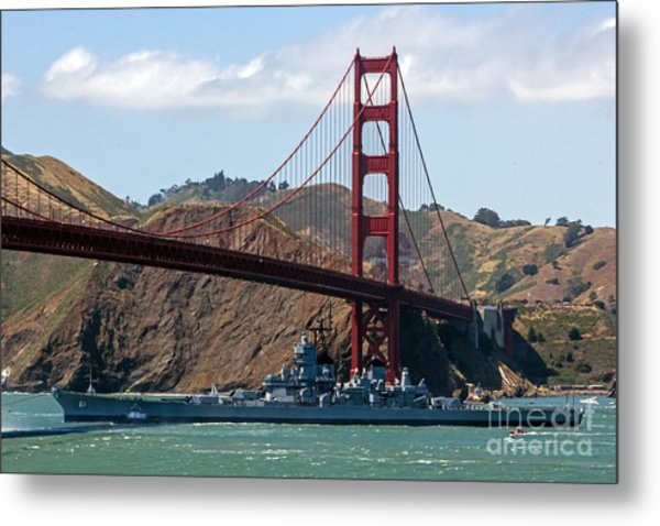 U.s.s. Iowa Up Close Metal Print