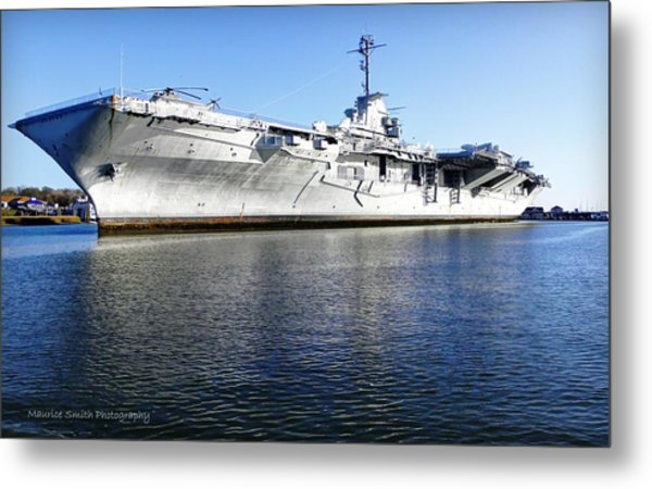 Uss Yorktown Aircraft Carrier Metal Print by Maurice Smith