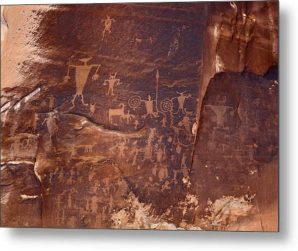 Utah Rock Art Metal Print