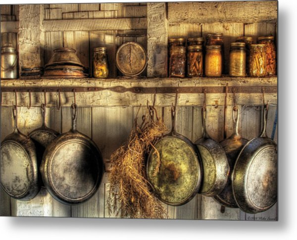 Utensils - Old Country Kitchen Metal Print