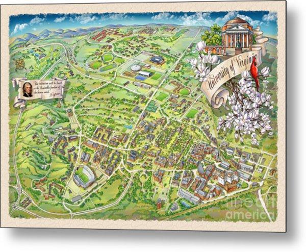 Campus maps art fine art america uva grounds illustration 2014 metal print publicscrutiny Images