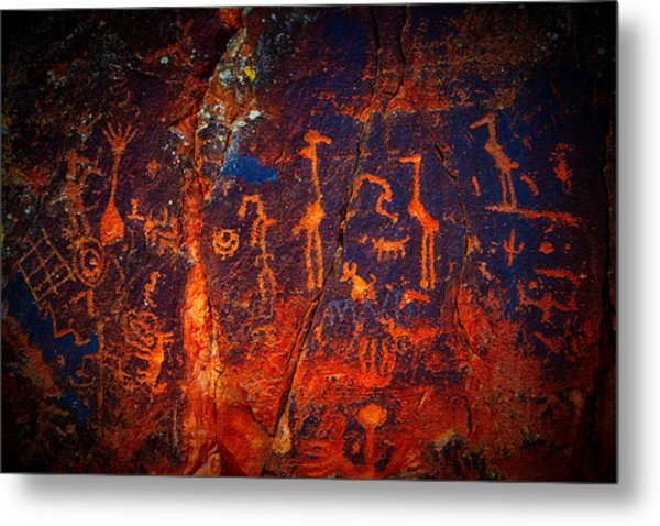 V-bar-v Petroglyphs Metal Print
